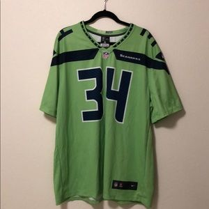 Rawls Seahawks 34 Color Rush Action Green Jersey